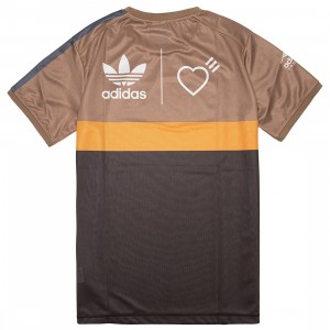 Adidas x Human Made Men Graphic Tee (brown / cardboard / tangerine)