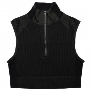 Adidas Y-3 Women Classic Seamless Knit Cropped Top (black / carbon)