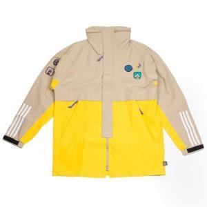 Adidas x Pharrell Williams Men Hu Hiking 3-Layer Jacket (beige / hemp / eqt yellow)