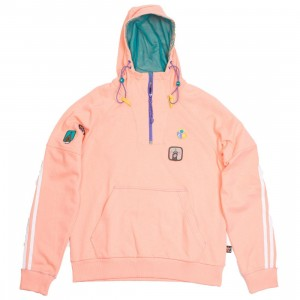 Adidas x Pharrell Williams Men Hu Hiking Hooded Sweatshirt (pink / sun glow / eqt green)
