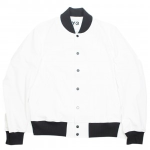 Adidas Y-3 Men PU Bomber Jacket (white / black)