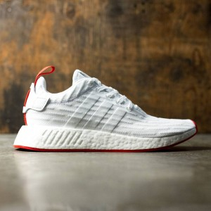 Adidas Men NMD R2 Primeknit (white / footwear white / core red)