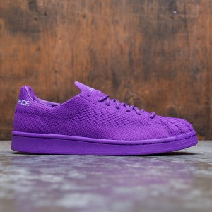 Adidas x Pharrell Williams Men Superstar Primeknit (purple / active purple / grey two / night red)