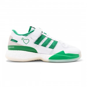 Adidas x Human Made Men Forum Low (white / green / off white)