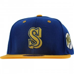 American Needle Seattle Mariners Blockhead Snapback Cap (royal blue / gold)