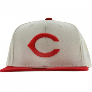 American Needle Cincinnati Reds 1958 Replica Wool Snapback Cap (white / red)