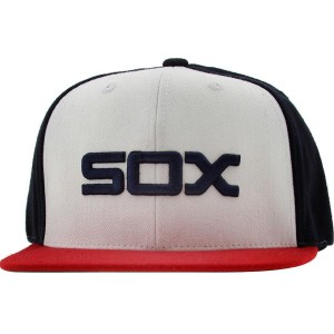 American Needle Chicago White Sox Replica Wool Snapback Cap (navy / white / scarlet)
