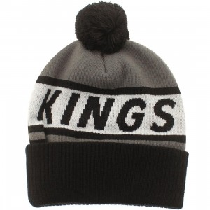American Needle Los Angeles Kings Voice Call Knit Beanie (grey / white / black)