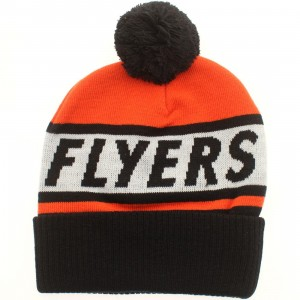 American Needle Philadelphia Flyers Voice Call Knit Beanie (orange / white / black)