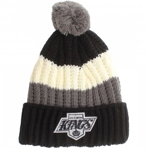 American Needle Los Angeles Kings Slope Knit Beanie (black / white / grey)