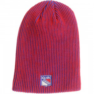American Needle New York Rangers Team Switch Knit Beanie (royal / red)