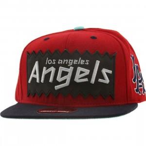 BAIT x MLB x American Needle Los Angeles Angels Retro Snapback Cap (red / navy)