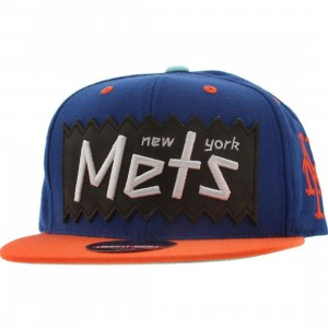 BAIT x MLB x American Needle New York Mets Retro Snapback Cap (royal / orange)