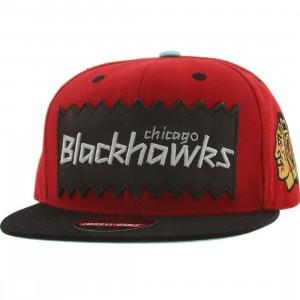 BAIT x NHL x American Needle Chicago Blackhawks NHL Retro Snapback Cap (red / black)