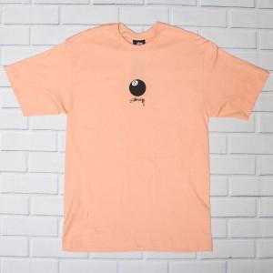 Stussy Men 8 Ball Stock Tee (pink / salmon)