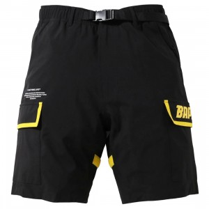 A Bathing Ape Men (B)Ape 2Layer Utility Shorts (black)