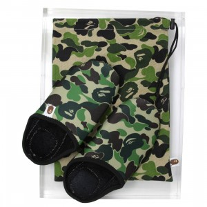 A Bathing Ape Men ABC Slippers And Pouch Set (green)