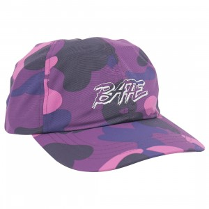 A Bathing Ape Color Camo Panel Cap (purple)