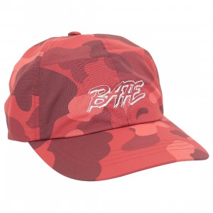 A Bathing Ape Color Camo Panel Cap (red)