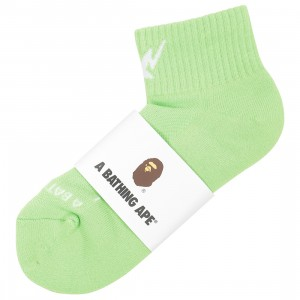 A Bathing Ape Men Sta Ankle Socks (green)