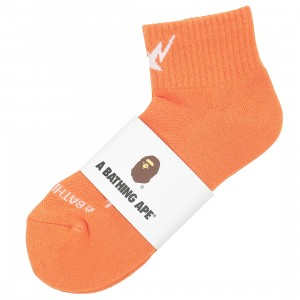 A Bathing Ape Men Sta Ankle Socks (orange)