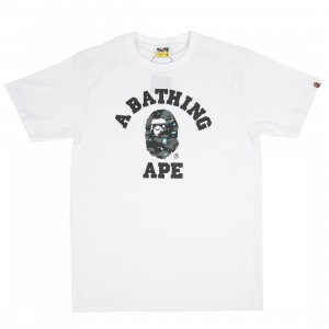 A Bathing Ape Men Space Camo College Tee (white)