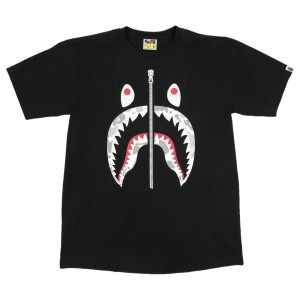 A Bathing Ape Men Space Camo Shark Tee (black)