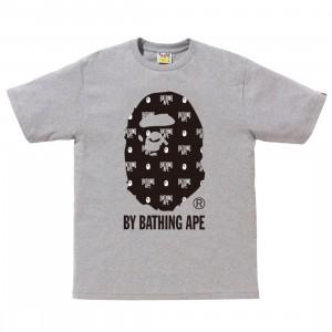 A Bathing Ape Men Monogram By Bathing Tee (gray)