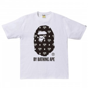 A Bathing Ape Men Monogram By Bathing Tee (white)