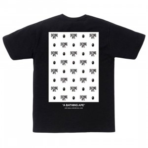 A Bathing Ape Men Monogram Box Tee (black)
