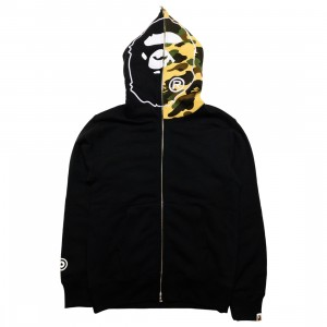 A Bathing Ape Men 1st Camo 2nd Ape Full Zip Hoodie (black)