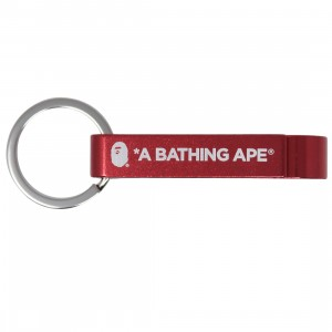 A Bathing Ape Bape Bottle Opener Keychain (red)