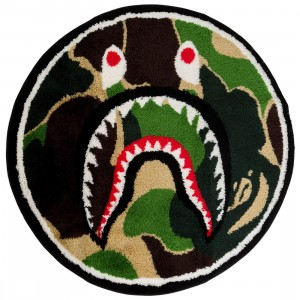 A Bathing Ape ABC Camo Shark Rug (green)