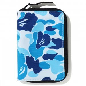 A Bathing Ape ABC Camo Passport Case (blue)