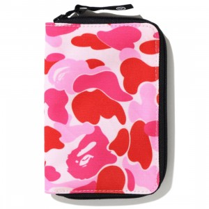 A Bathing Ape ABC Camo Passport Case (pink)