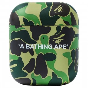 A Bathing Ape ABC Camo Airpods Case (green)