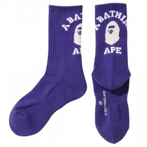 A Bathing Ape Men College Socks (purple)