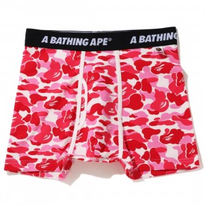 A Bathing Ape Men ABC Camo Trunks (pink)