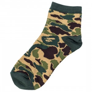 A Bathing Ape Men ABC Camo Ankle Socks (green)