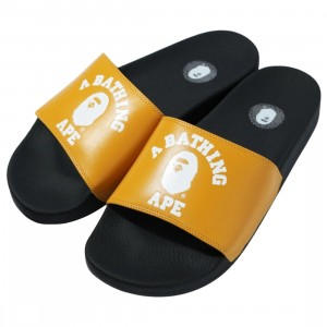 A Bathing Ape Men College Slide Sandals (yellow)