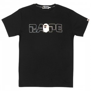 A Bathing Ape Men Relaxed Aurora Logo Tee (black)