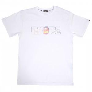 A Bathing Ape Men Relaxed Aurora Logo Tee (white)