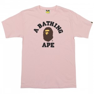 A Bathing Ape Men College Tee (pink)