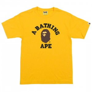 A Bathing Ape Men College Tee (yellow)