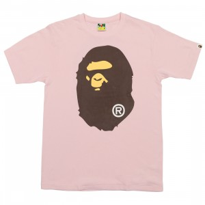 A Bathing Ape Men Big Ape Head Tee (pink)