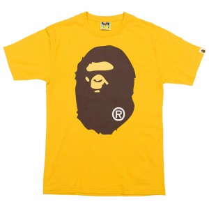 A Bathing Ape Men Big Ape Head Tee (yellow)