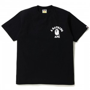 A Bathing Ape Men Silicon College One Point Tee (black)