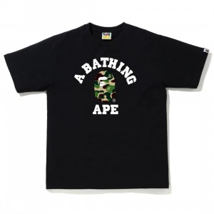 A Bathing Ape Men ABC Camo College Tee (black / green)
