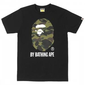 A Bathing Ape Men 1st Camo By Bathing Ape Tee (black / green)