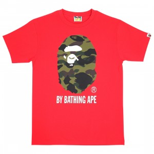 A Bathing Ape Men 1st Camo By Bathing Ape Tee (red / green)